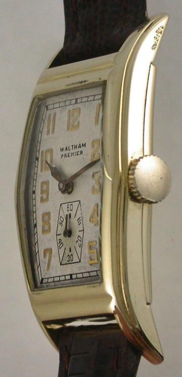 Waltham 14K Rectangular 1937