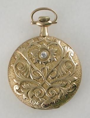 1911 Howard Gents Dress Pocket Watch With Diamond