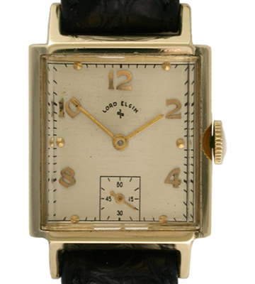 ELGIN 14K RECTANGLE GENTS WRISTWATCH