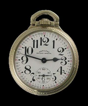 1957 Hamilton 16 size 21 jewel gents railroad pocket watch grade 992B